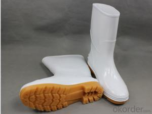 White PVC work Boots American Style Black Men Women Rain Boots for Farming Fishing