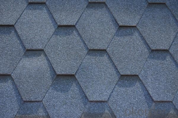 Colorful Asphalt Shingle of Fiberglass and Polyester