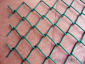 Green PVC Coated Steel Mesh Fencing Wire Garden Galvanised Fence Border