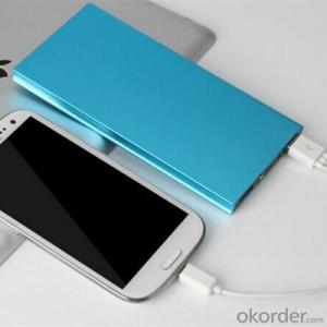 Ultra-thin 8000mAh Portable External Battery Charger Power Bank for Cell Phone Aluminum Alloy