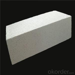 White corundum mullite brick for high temperature industrial furnace