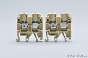Din Rail Brass Terminal Blocks 4 sq.mm AWG 24-14