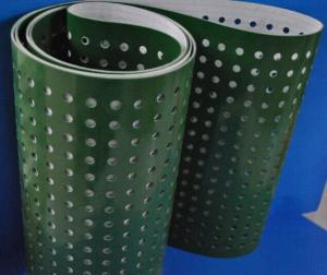 Green PVC Conveyor Belt with Punching Hole