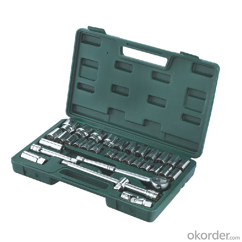 32pcs 12.5mm Socket Wrench Set Metric Scale