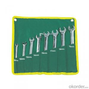 Finely Polished Combination Wrench Set Hand Tool Sets