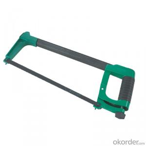 Square tubular aluminum handle heavy-duty hacksaw frame