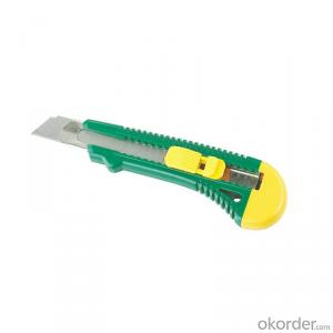 Plastic Coated Zinc Alloy Utility Knife High Quality