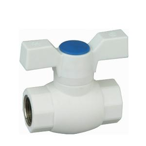 E5 Type PPR Ball Valve Double Female Threaded with Brass Ball