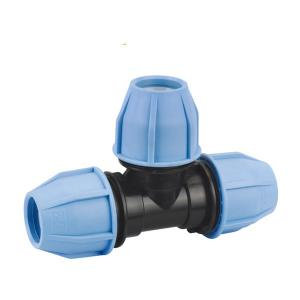 PP 90 TEE WITH INCREASED TAKE OFF PP COMPRESSION FITTINGS