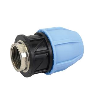 PP FEMALE ADAPTOR WITH BRASS THREADED INSERT PP COMPRESSION FITTINGS