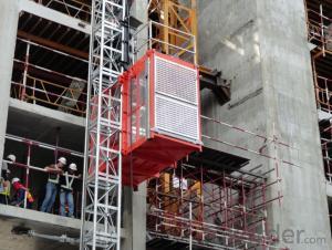 Building Hoist SC100 Single Cage Type Construction Elevator