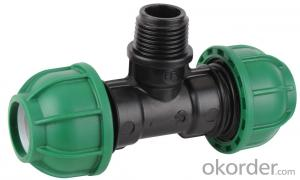 HDPE PP PE Compression Fittings and saddle 10 bar for water for irrigation system