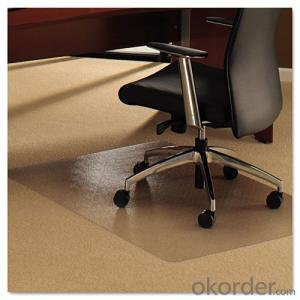 Frosted clear color PC Chair Mat for Protect Floor