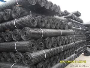 Polyester Geogrid PES Geogrid PET Geogrid Coated With Water Soluble PVC
