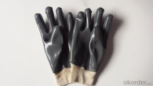 M101-01 grey PVC Coated smooth knit wrist glove for working