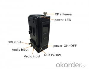 HD Wireless SDI/HDMI Video Transmitter COFDM by Camera Mount