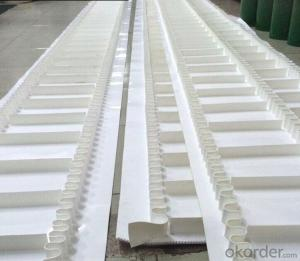 Custom Made PVC/PU Cleat Conveyor Belt With Sidewall