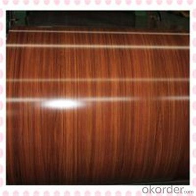 Wooden Grain Printing Galvanized PPGI Steel Sheets