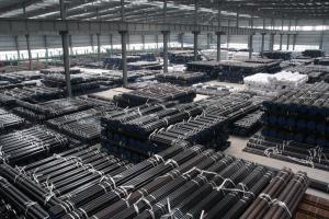 Conveying low pressure fluid seamless steel pipe