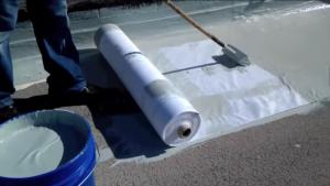 White Stitchbond Polyester Mesh Roof fabric Sheet Rpet Waterproofing Membrane