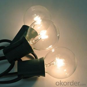 G40 Incandescent Globe Bulb Patio Light String Fancy String Light for Decoration with UL/CE Listed