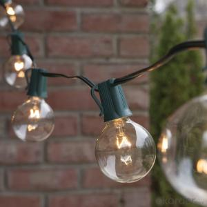 UL/CE/ROHS Listed G40 Incandescent Globe Bulb Patio Light String Fancy String Light for Decoration