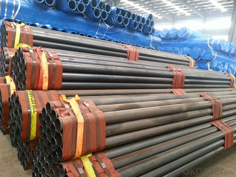 Seamless steel pipe for conveying fluid pipeline