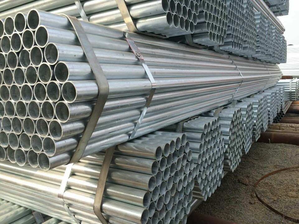 Hot dip galvanized welded steel pipe for petroleum machinery