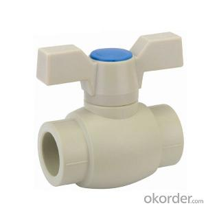 B5 Type  PP-R ball  valve  with  brass  ball