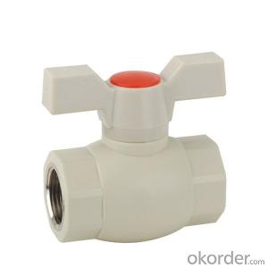 F5 type PPR single female threaded ball valve with brass ball