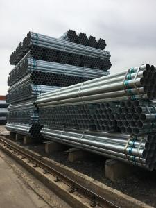 Galvanized welded steel pipe for construction scaffolding