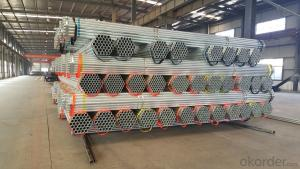 Galvanized welded steel pipe for scaffolding
