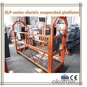 ZLP500 Exterior Wall / Window Cleaning Platform Cradle Scaffolding 4M 500KG 1.5KW