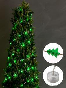 Christmas tree copper wire light decorative light waterproof hanging socket outdoor light