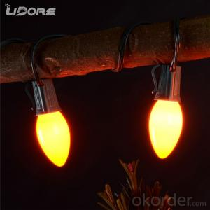 C9 Incandescent bulb light string decorative light waterproof hanging socket outdoor light