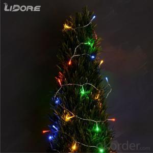 3AA Battery operated mini LED light string decorative light waterproof hanging socket outdoor light