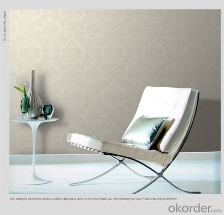 3D Water Proof Velvet Wallpaper Metallic Wallpaper Border In China