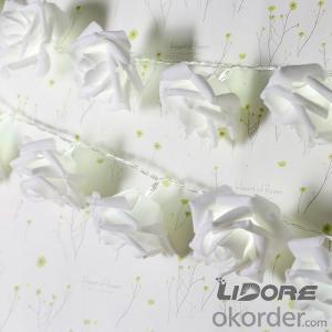 Rose LED Lights String LED Battery Operated Romantic Flower Lighting