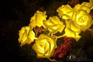 Indoor and Outdoor LED Rose Light String for Christmas Festival Party or Holiday
