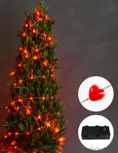 2D battery operated LED string light decorative light waterproof hanging socket outdoor light