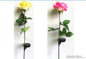 Outdoor Lawn Light Solar Powered LED Rose Landscape Flower Lamp