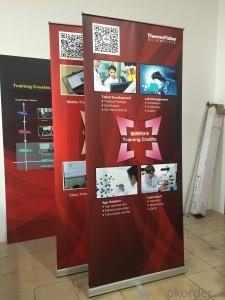 BST1-5 single feet roll up banner stand /Aluminum roll up banner stand /pull up banner stand