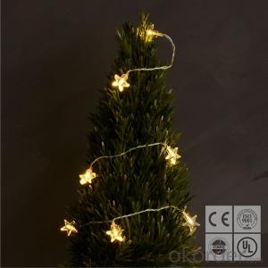 Star 3AA Battery Operated Mini LED Light String with 20 Lights for Decoration.