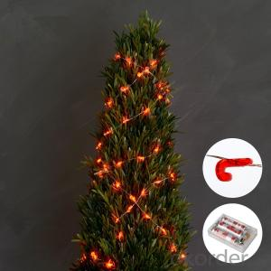 Candy Cane Copper Wire String Light with 3AA Battery Box 20 Lights for Holiday Decoration.