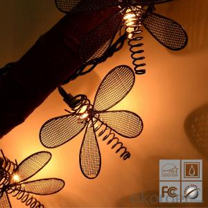 Dragonfly Light String with 5.5 Feet 10 Lights for Christmas and Party Decoration.