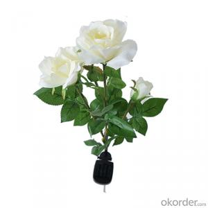 Lovely Brilliant Solar LED White Rose Flower Light for Garden Yard Decoration