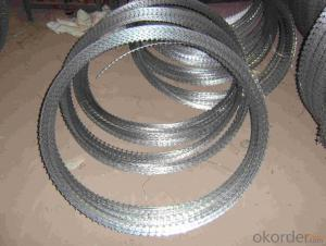 Galvanized Razor Barbed Wire with CE and SGS