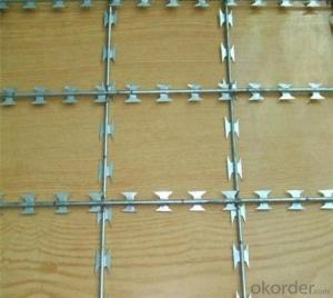 Galvanized Razor Barbed Wire / Barbed Wire Bto-22