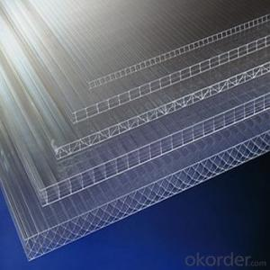 China manufacturer 4mm/6mm/8mm/10mm twin-wall polycarbonate hollow sheet/pc roofing material