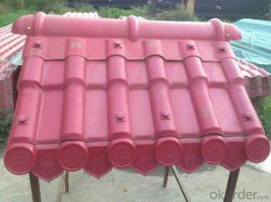 Impact resistant synthetic resin tile environmental protection